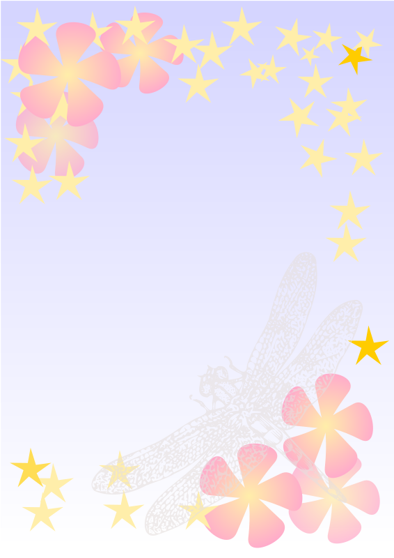 Free Dragonfly notepaper