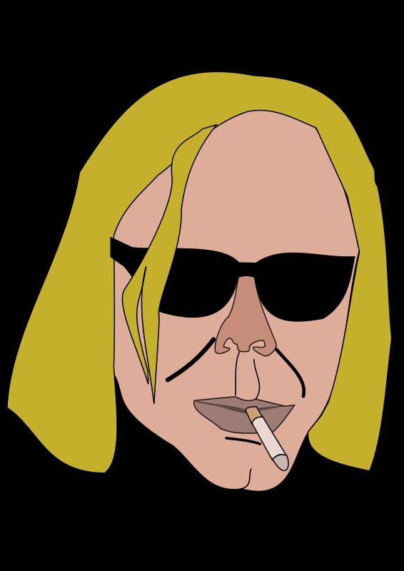 Free smoking man
