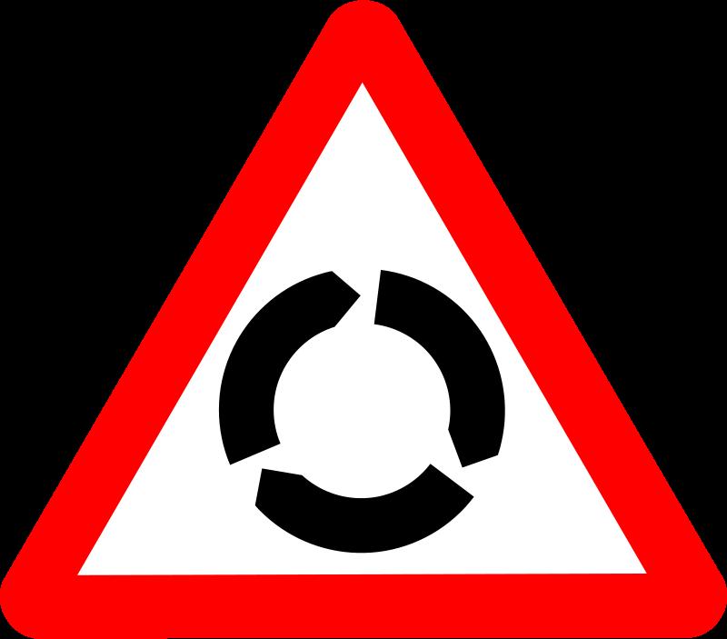 Free Roadsign roundabout