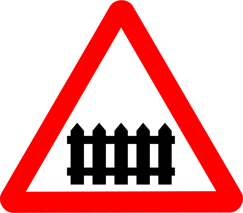 Free Clipart: Roadsign rail fence   Anonymous