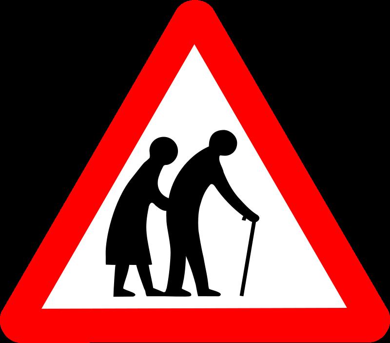 Free Roadsign old folks
