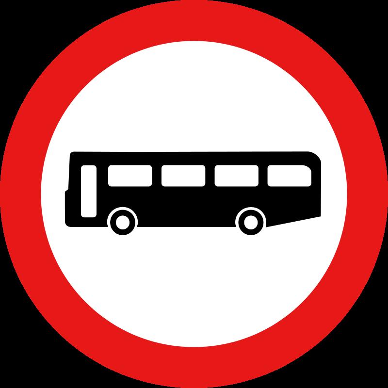 Free Roadsign no buses