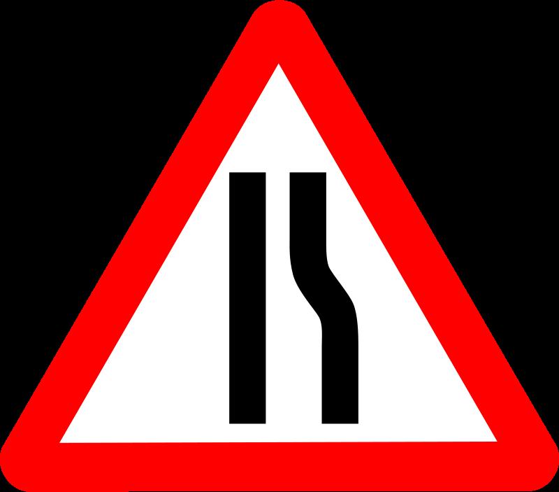 Free Roadsign narrows