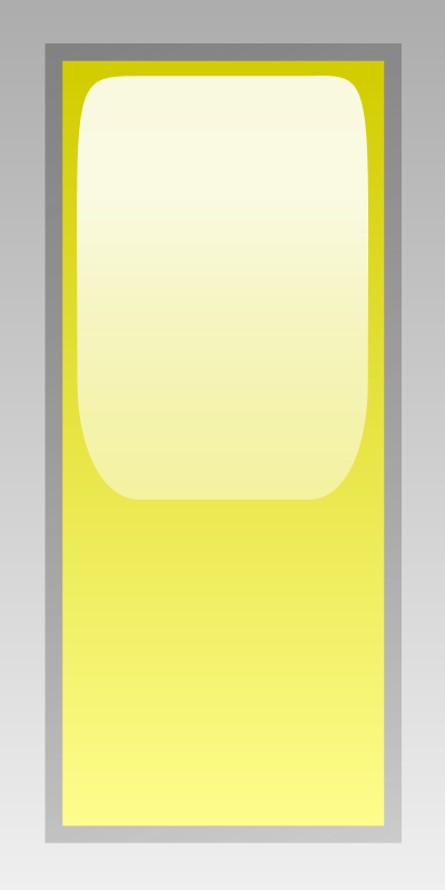 Free led rectangular v yellow