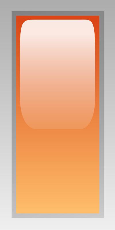 Free led rectangular h orange