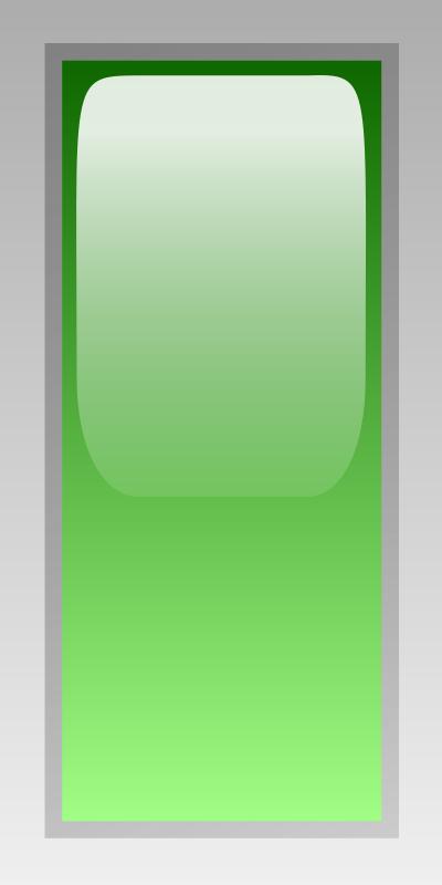Free led rectangular v green