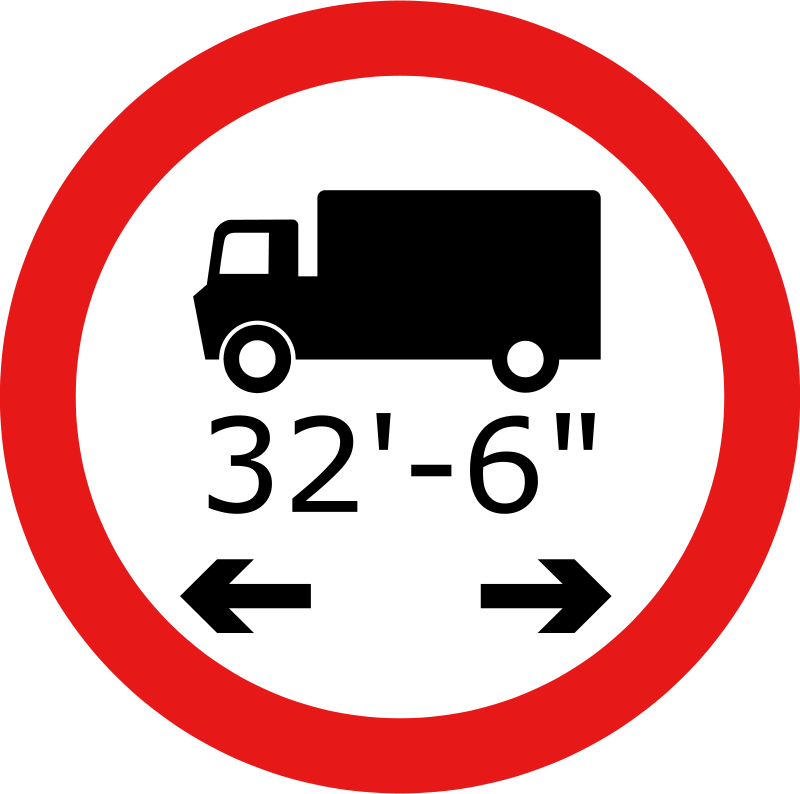 Free Roadsign Lorry length