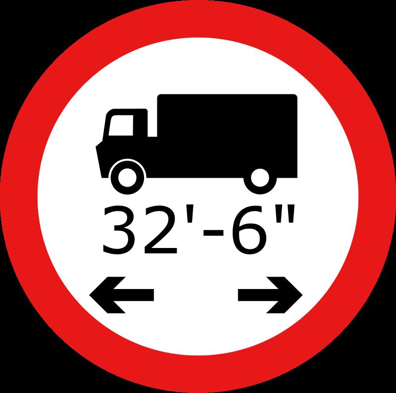 Free Roadsign Lorry length