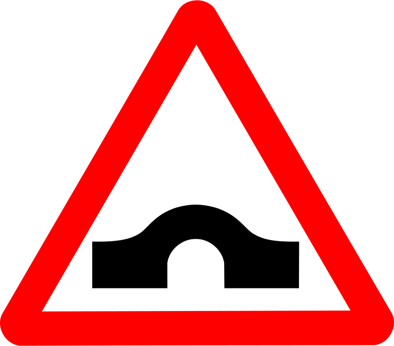 Free Clipart: Roadsign Humpback | Anonymous