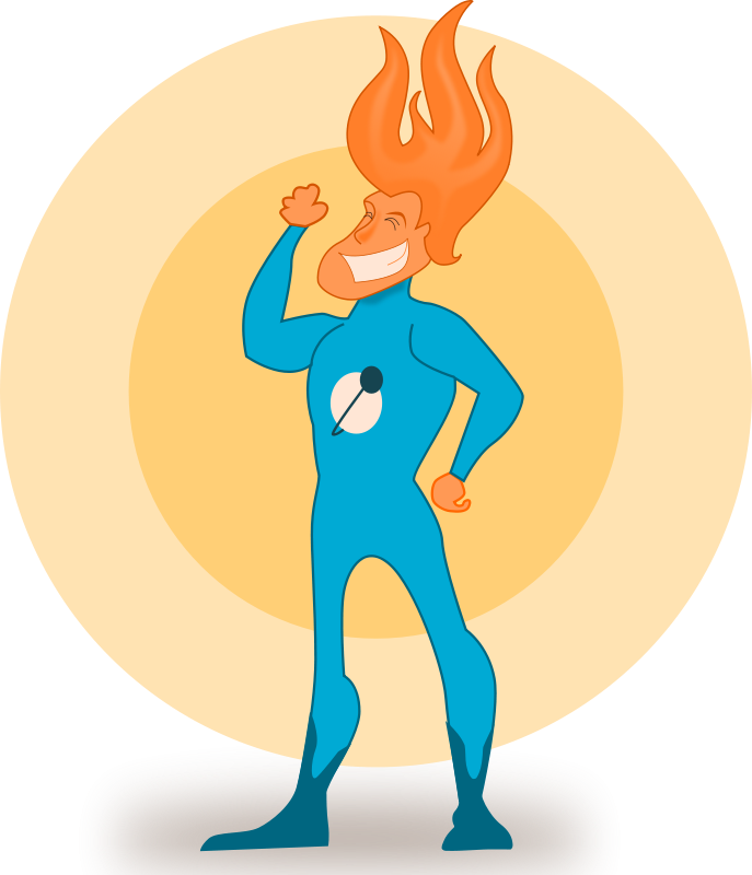Free Super Hero - Flame