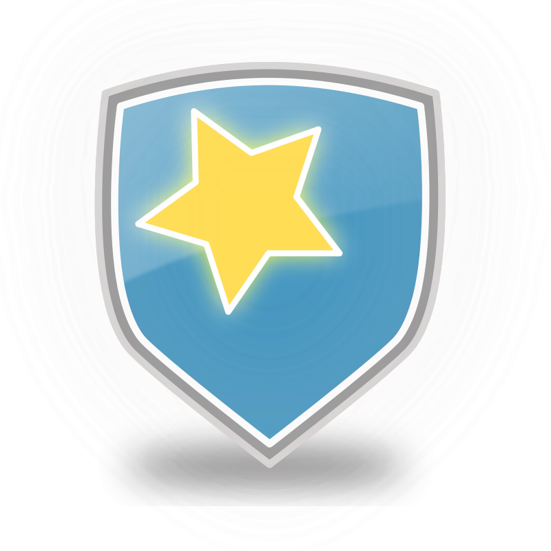 Free Blue Shield Star Icon