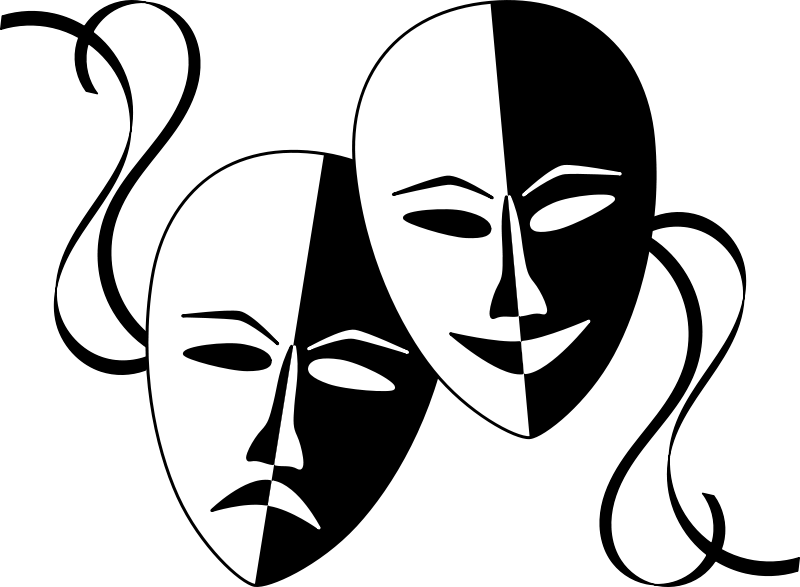 free clipart theatre masks wasat rh 1001freedownloads com drama mask clip art free comedy drama mask clip art