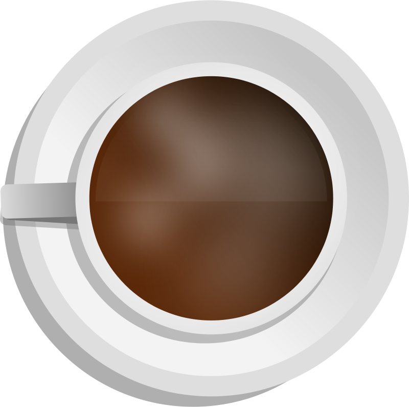 Free Realistic Coffee cup - Top view