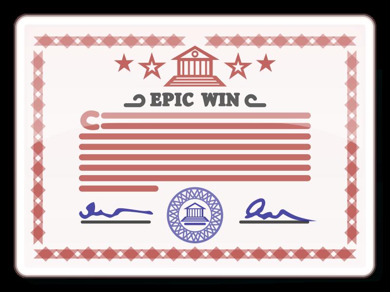 Free Clipart: Certificate | DooFi