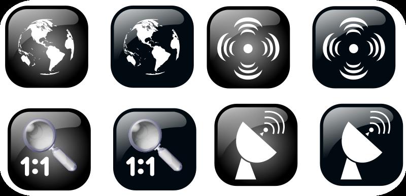 Free Map Geolocalisation Icon Set