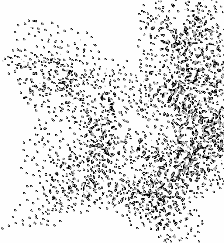 Free Clipart: Network Node Cloud Swarm Simple | rejon