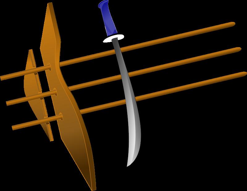 Free sword with blue hilt