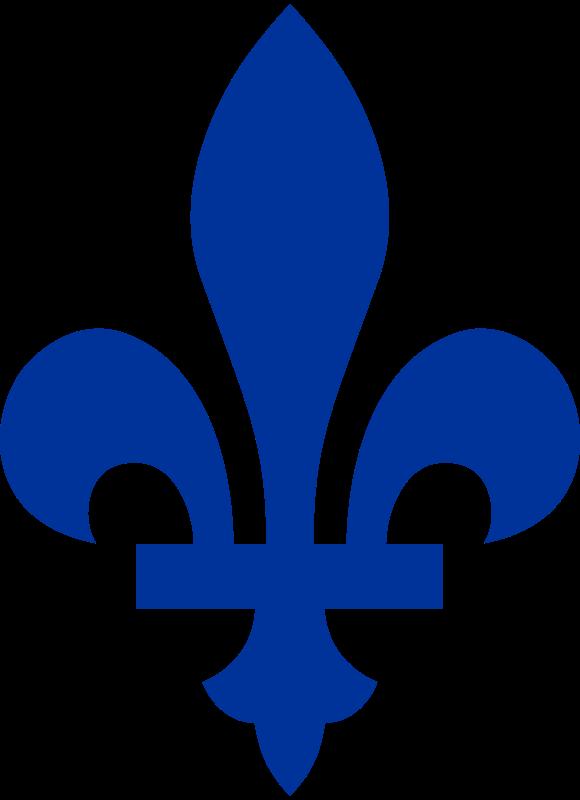 Free Fleur de lis du drapeau du Québec