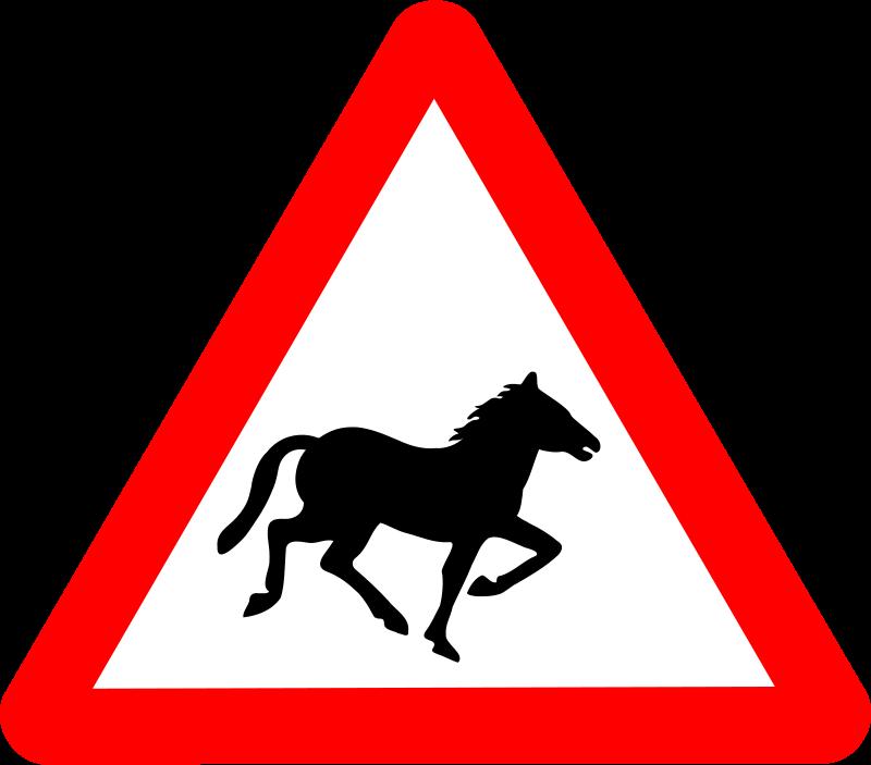 Free Roadsign Horse