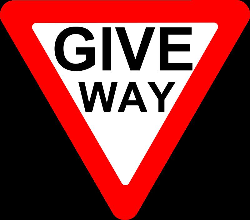 Free Roadsign Give way