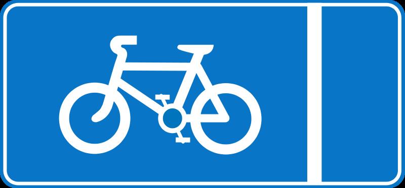 Free Roadsign Cycle lane