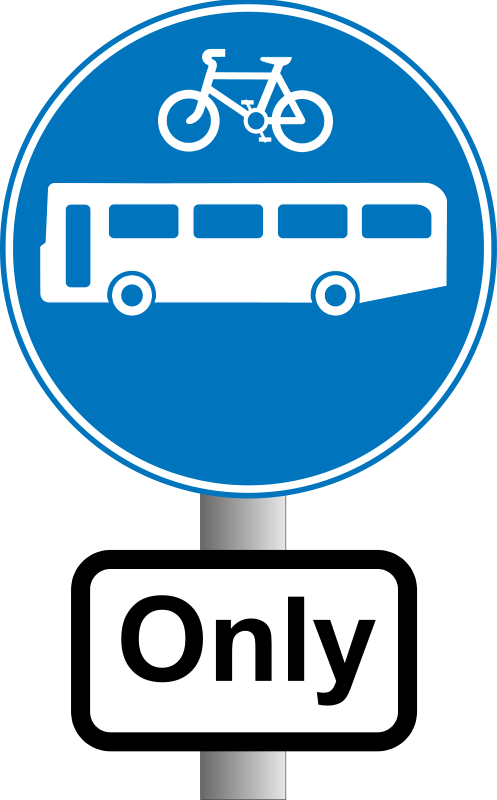 Free Clipart: Roadsign Buses and bikes | Anonymous