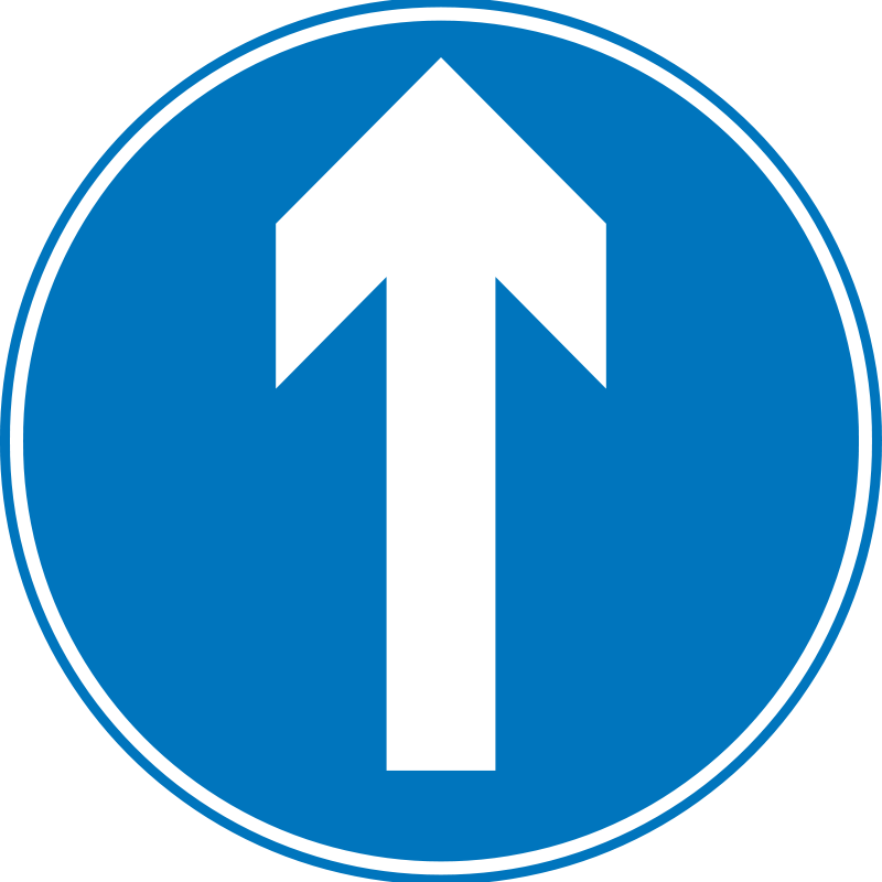 Free Roadsign Ahead only