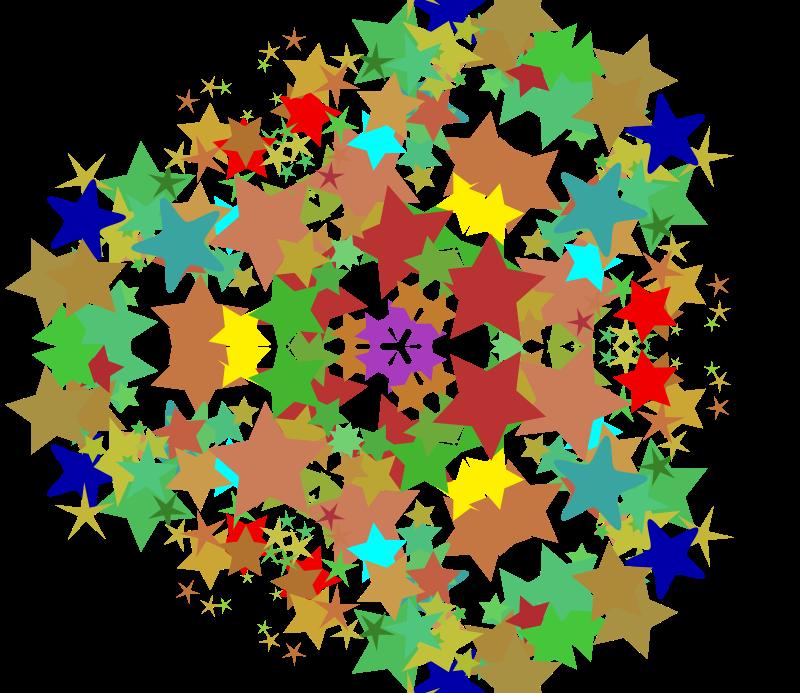 Free kaleidoscope, 3 fold symmetry