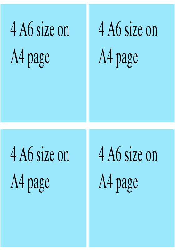 Free 4 on a page