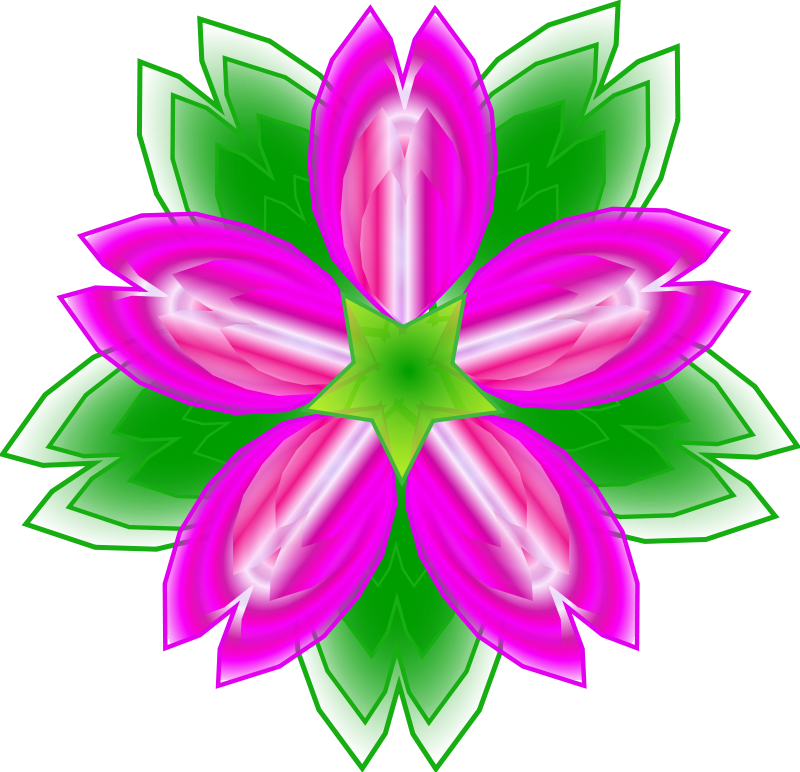 Free Five-petalled flower