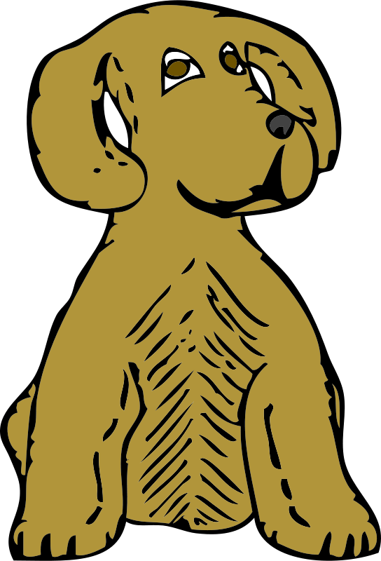 Free Clipart: Dog front view | johnny_automatic
