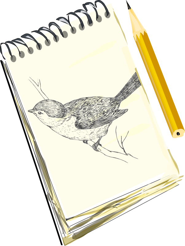Free Sketchpad, with drawing of a bird