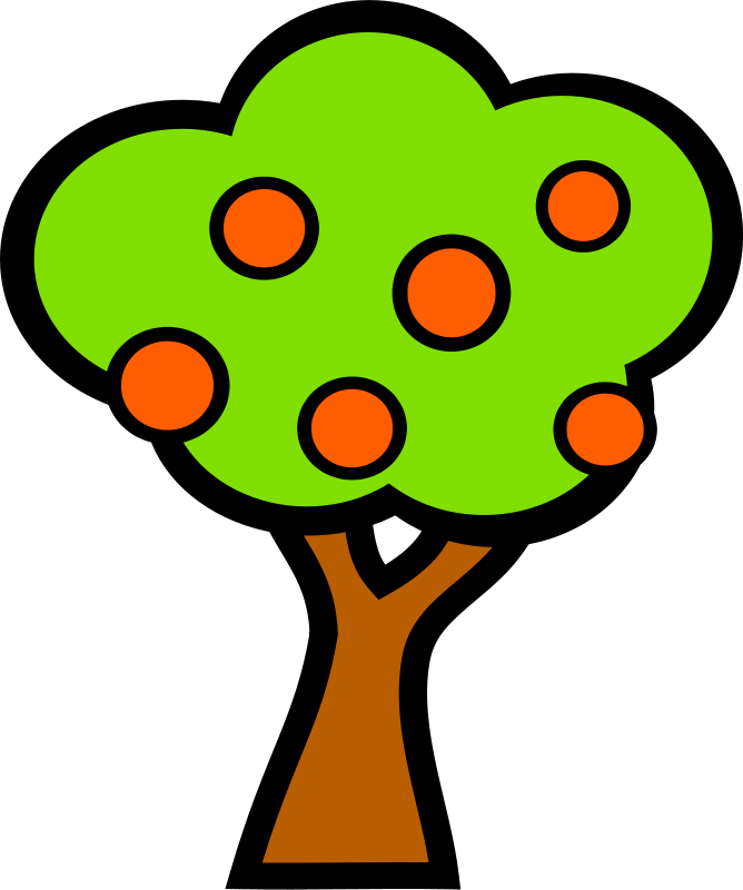 Free tree with fruits