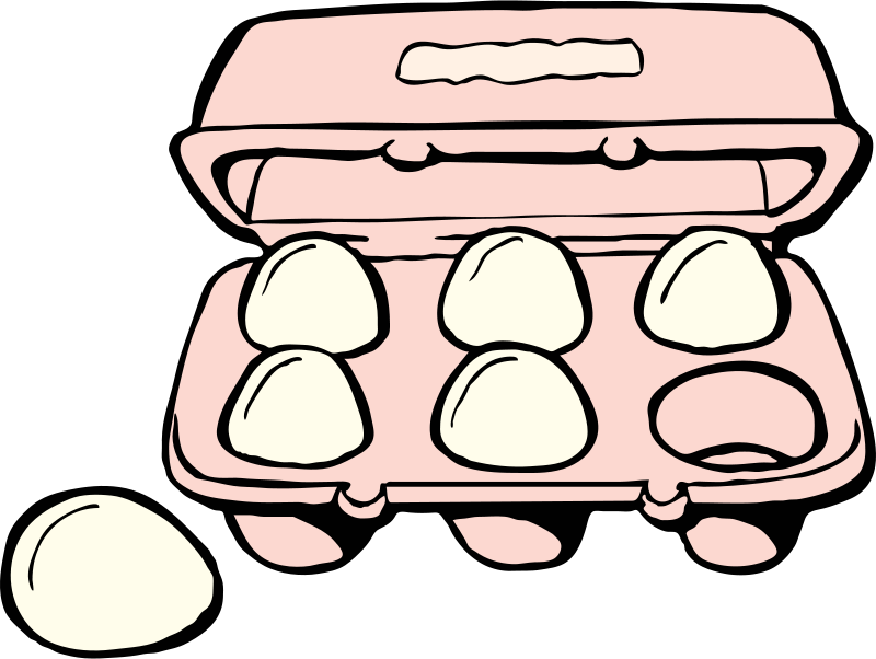 Free Clipart: Carton of eggs | johnny_automatic