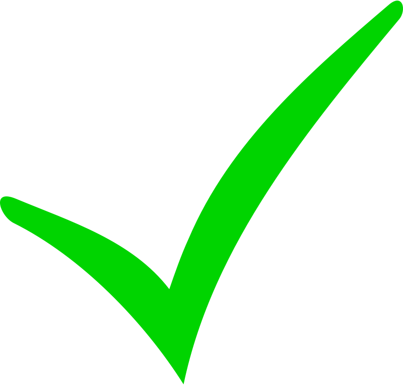 Free Green Checkmark and Red Minus