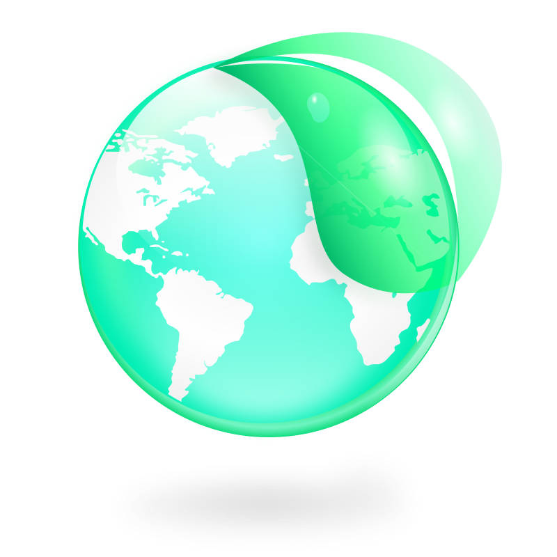 Free Clipart: Environmental / Eco Globe & Leaf Icon | kendraschaefer