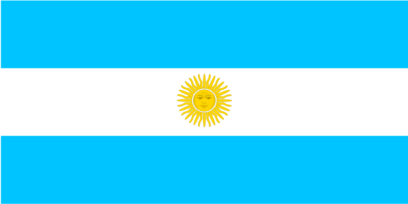Free flag of Argentina