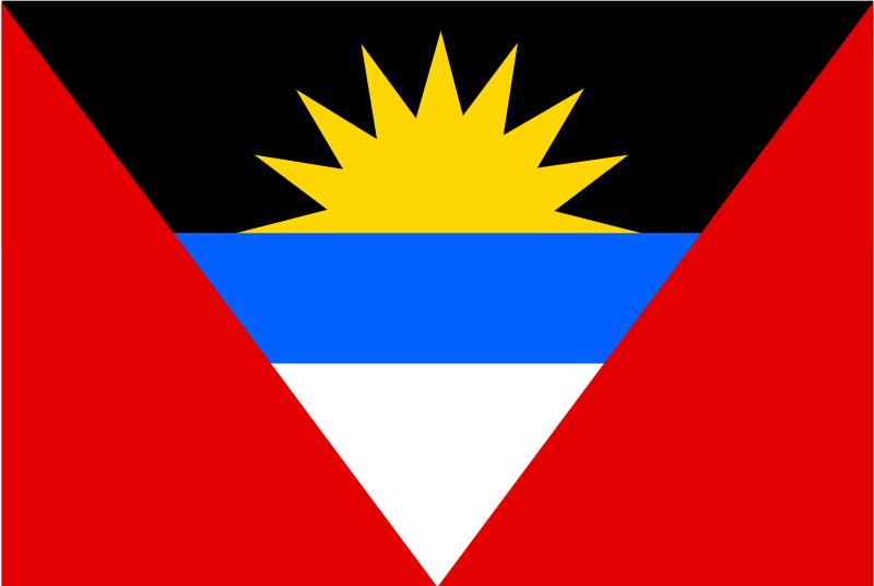 Free flag of Antigua and Barbuda