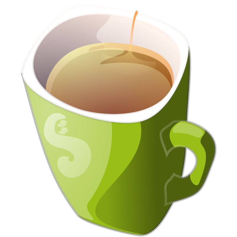 Free green mug of tea
