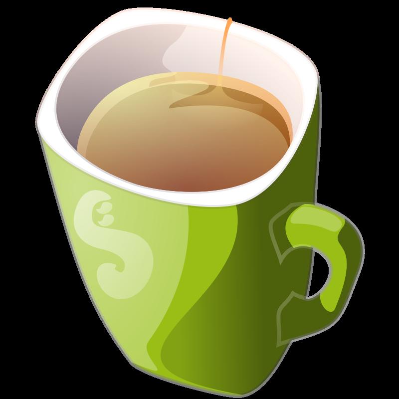 Free Clipart: Green mug of tea | Anonymous