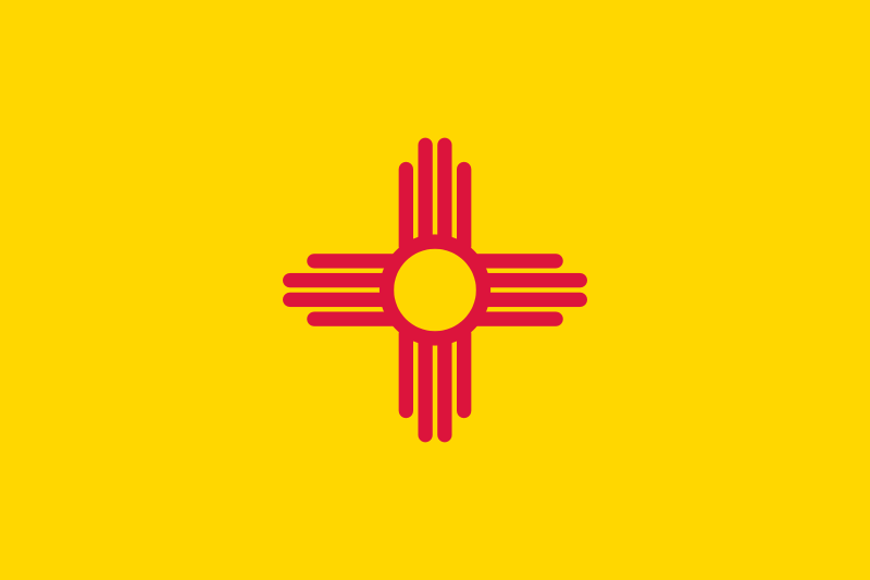 Free Flag of New Mexico, USA