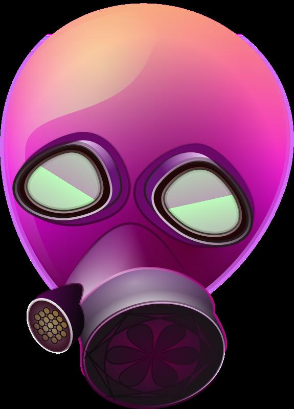 Free pink_gas_mask
