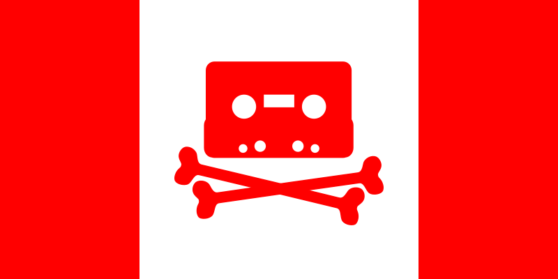 Free Canadian Music Pirate Flag