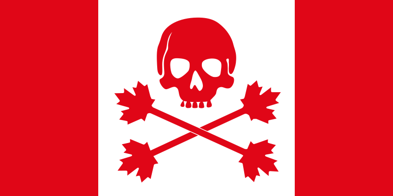 Free Pirate flag of Canada