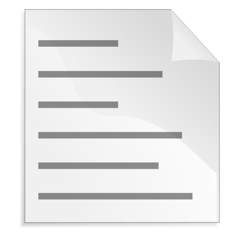 Free Text Page Icon