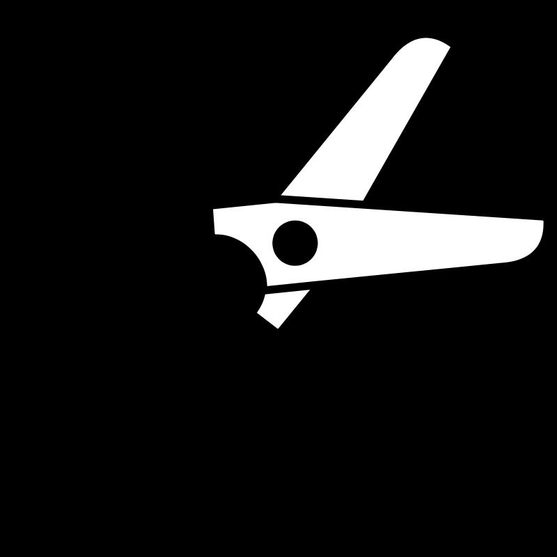 Free scissors half-open icon