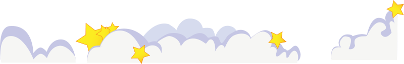 Free Cute cartoon clouds with stars