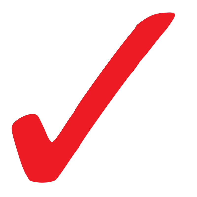 Free Simple Red Checkmark