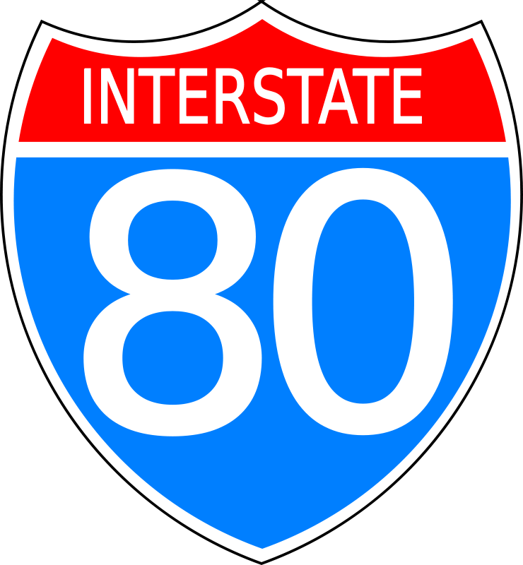 Free Interstate highway sign