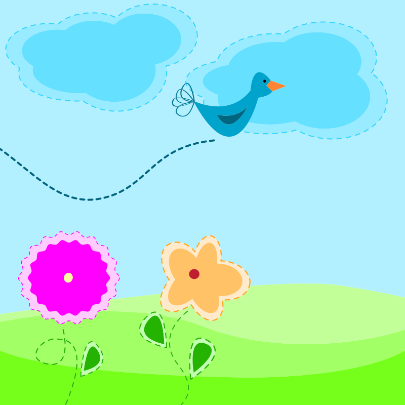 Free Cartoon spring